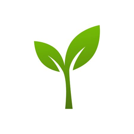 Green tree icon vector isolate on white background ecology symbol  for graphic design, web site, social media, mobile app, ui illustration