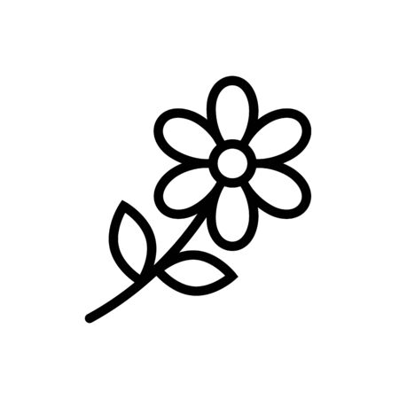 Flower outline icon vector for graphic design, web site, social media, mobile app, ui illustration Ilustrace