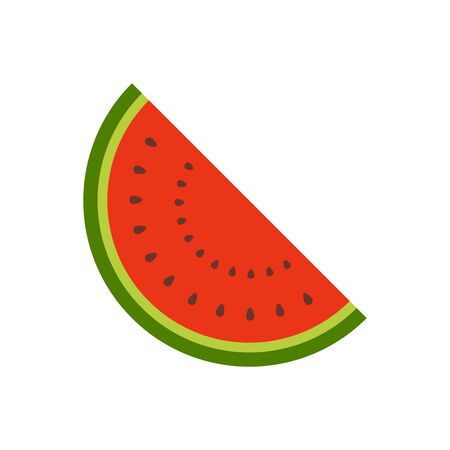 Watermelon slice fruit organic natural fresh healthy food for graphic design, logo, web site, social media, mobile app, ui  vector illustration Ilustrace