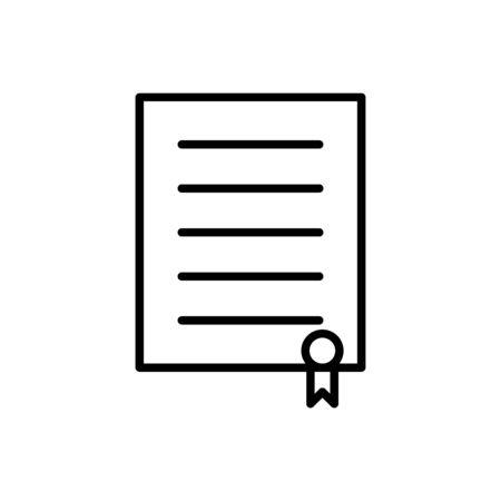 Diploma, certificate icon vector education concept for graphic design, web site, social media, mobile app, ui illustration Ilustrace