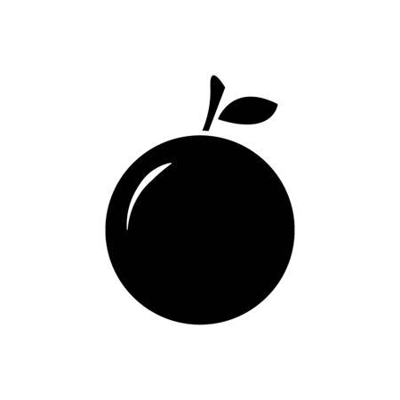 Orange fruit icon vector isolate on white background for graphic design, web site, social media, mobile app, ui illustration Ilustrace