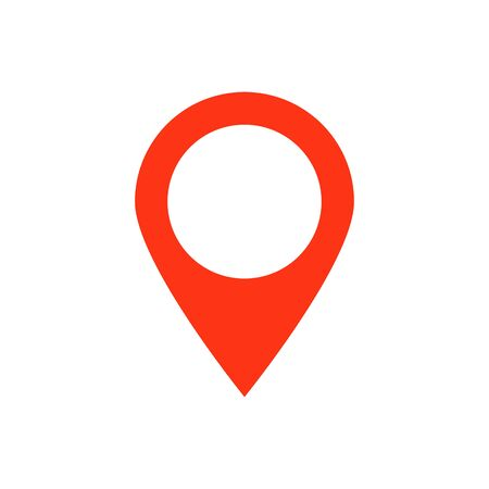 Red map pointer vector icon marker location. GPS location symbol navigation for your web site design, app, UI.