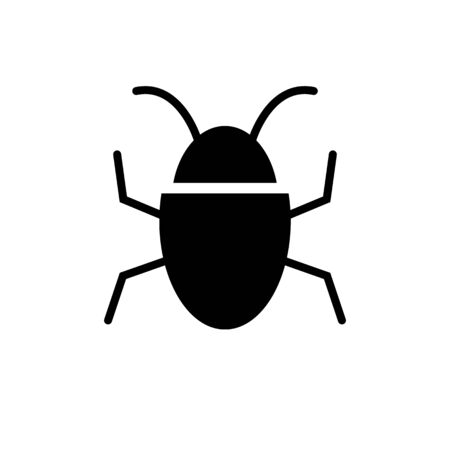 Bug vector icon isolate on white background for graphic design, web site, social media, mobile app, ui illustration