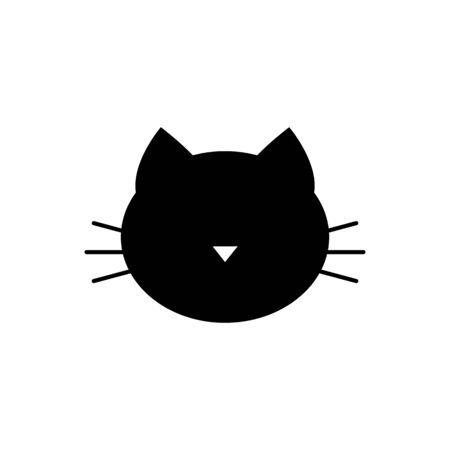 Cat head vector icon isolate on white background for graphic design, web site, social media, mobile app, ui illustration Illustration