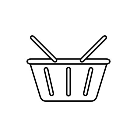 Shopping basket outline icon vector for your web design, logo, infographic, UI. illustration