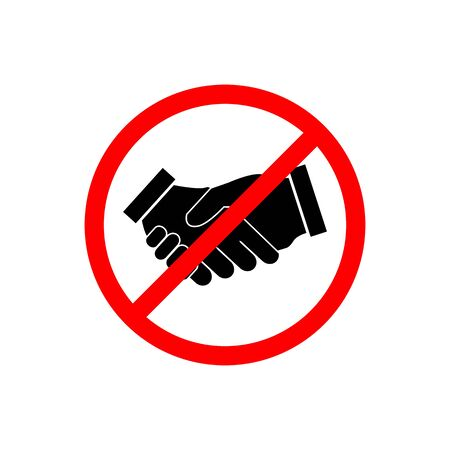 No Handshake icon vector. No dealing symbol. No collaboration sign for your web design, logo, infographic, UI. illustration