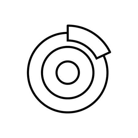Car brake outline icon vector for graphic design, logo, web site, social media, mobile app, ui illustration