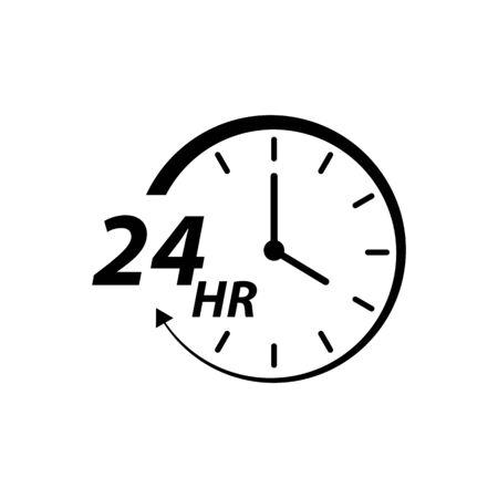Twenty four hour icon vector for graphic design, logo, web site, social media, mobile app, ui illustration Illustration