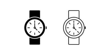 Wrist watch icon vector for graphic design, logo, web site, social media, mobile app, ui illustration Illustration