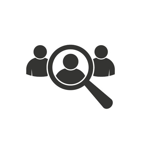 Human resource icon vector market research, targeting symbol recruitment sign for graphic design, logo, web site, social media, mobile app, ui illustration Illusztráció