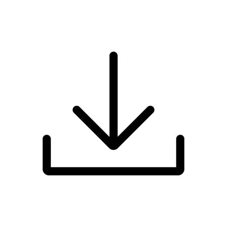 Download outline icon vector for graphic design, logo, web site, social media, mobile app, ui illustration