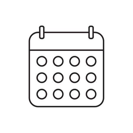 Calendar outline icon vector for your web site design, logo, app, UI. Vector illustration Illusztráció