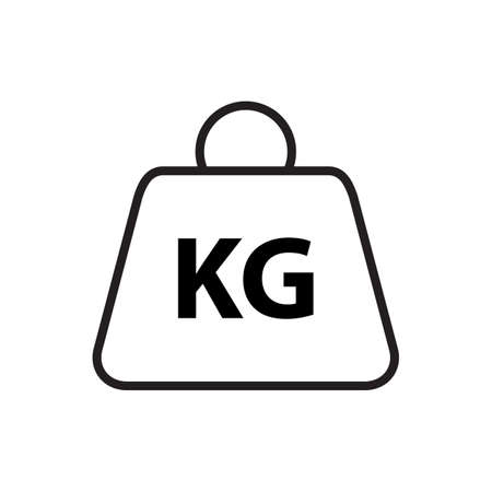 Weight icon vector for your web site design, logo, app, UI. Vector illustration
