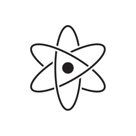 Molecular atom neutron laboratory Icon Vector physics science model for your web site design, logo, app, UI. illustration