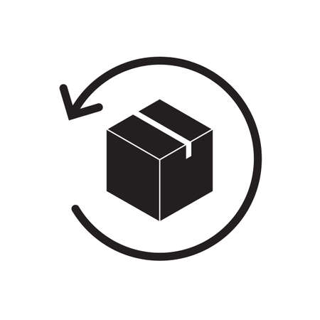 Return parcel icon vector package tracking symbol for graphic design, logo, web site, social media, mobile app, ui illustration