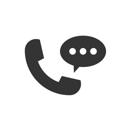 Telephone receiver vector icon. For your web site design, logo, app, UI. illustration