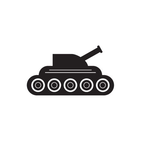 Tank war army icon vector military concept for graphic design, logo, web site, social media, mobile app, ui illustration
