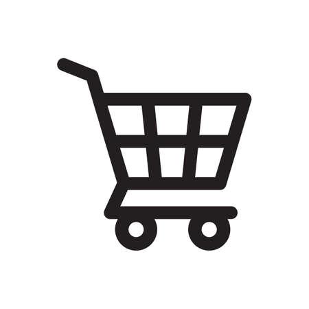 Shopping cart outline vector icon finance concept for graphic design, logo, web site, social media, mobile app, ui illustration