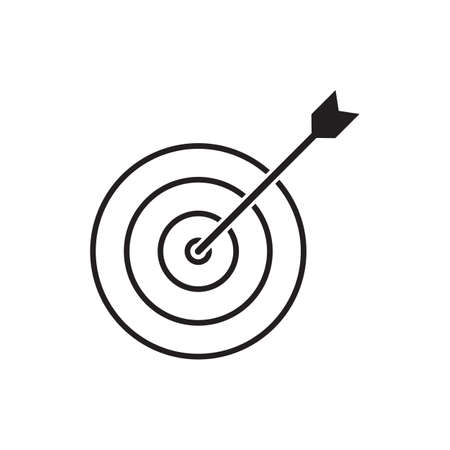Target / Dart icon vector business concept for graphic design, web site, social media, mobile app, ui illustration