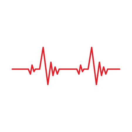 Heartbeat pulse line vector health medical concept for graphic design, logo, web site, social media, mobile app, ui illustration