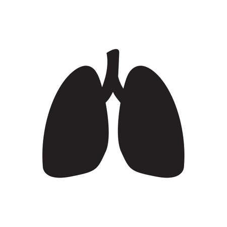 Lungs vector icon isolate on white background for graphic design, logo, web site, social media, mobile app, ui illustration