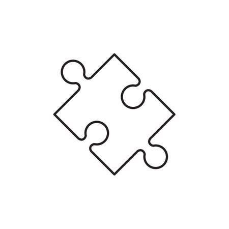 Puzzle outline icon vector isolate on white background for graphic design, logo, web site, social media, mobile app, ui illustration Stock Illustratie