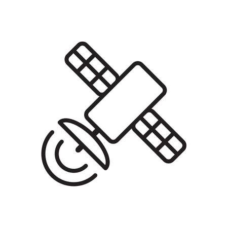 Satellite icon vector for graphic design, logo, web site, social media, mobile app, ui illustration