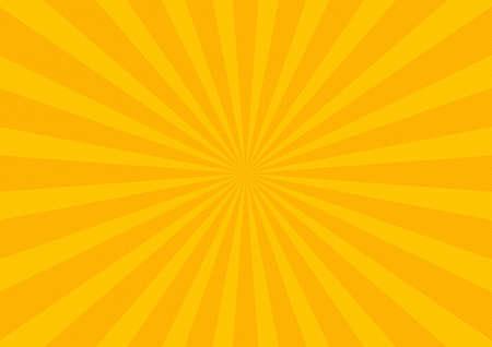 Pop atrt yellow sunbeams background with orange dots comics book cartoon magazine cover. Cartoon funny retro pattern strip mock up illustration