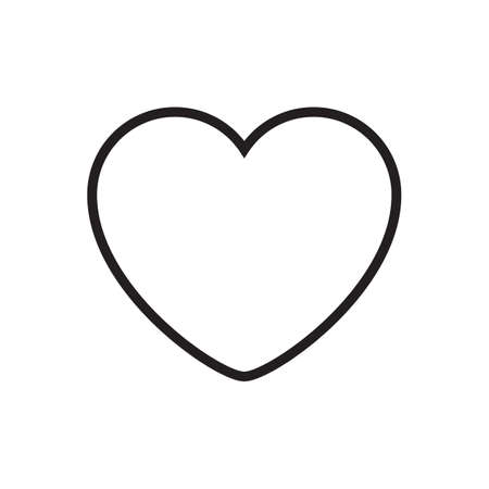 Heart outline  vector , Love Symbol Valentine's Day isolated on white background