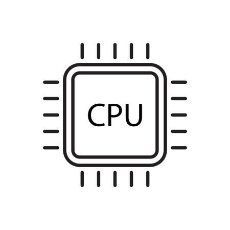 Central processing unit vector icon