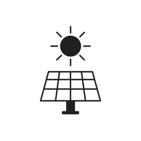 Solar energy panel vector icon for graphic design, web site, social media, mobile app, ui illustration Ilustrace