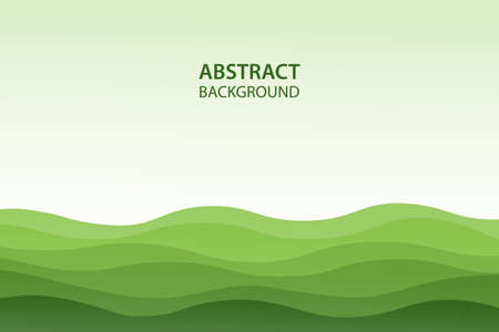 Eco green water waves abstract background for flyers, bunners, presentations and posters. Vector illustration