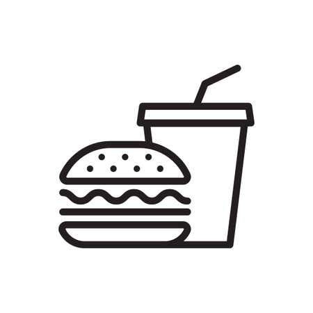 Fast food vector icon isolate on white background for graphic design, logo, web site, social media, mobile app, ui illustration