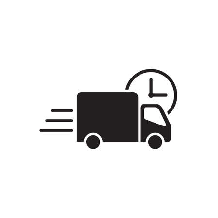 Fast shipping delivery truck icon vector for graphic design, logo, web site, social media, mobile app, ui illustration