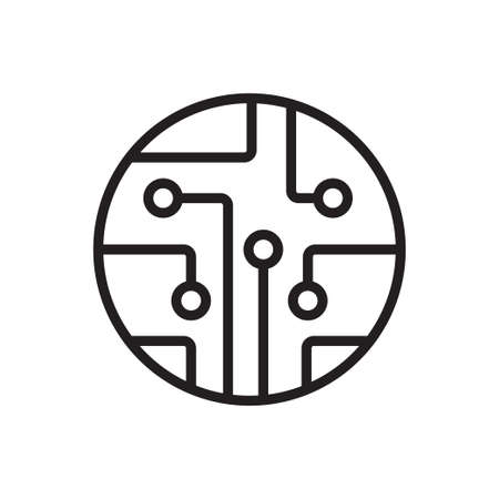 Circuit board, technology outline icon vector. For your web site design, logo, app, UI. Vector illustration