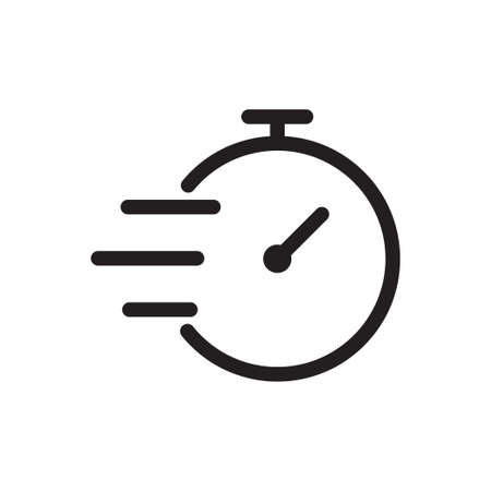 Fast time outline icon vector for graphic design, logo, web site, social media, mobile app, ui illustration