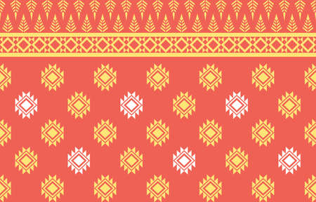 Geometric pattern traditional design for fabric, wrapping, batik, fabric, sarong, carpet, wallpaper, clothing, background vector illustration