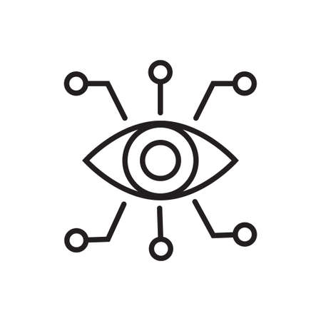 Bionic eye outline icon vector artificial intellegence and future technology collection concept for your web Ilustrace
