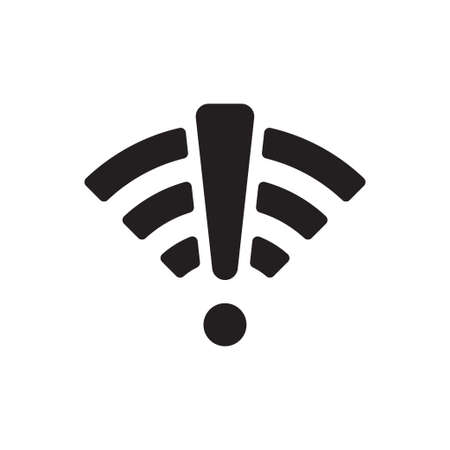 No connection icon vector. No network symbol. No Wifi sign Paid internet for graphic design, web site, social media, mobile app, ui illustration