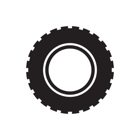 Tire flat icon vector for your web site design, logo, app, UI. illustration