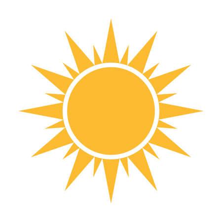 Sun flat icon vector. Summer pictogram. Sunlight symbol. for website design, web button, mobile app illustration Ilustración de vector
