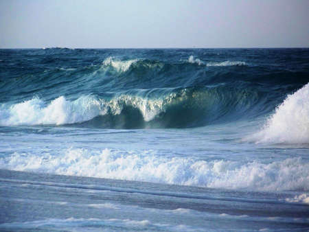 Waves In The Atlantic Ocean Stock Photo