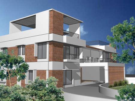 duplex: Modern 3d house
