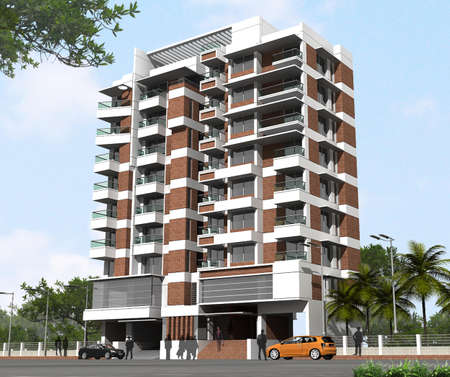 Modern Residential Building Stock Photo