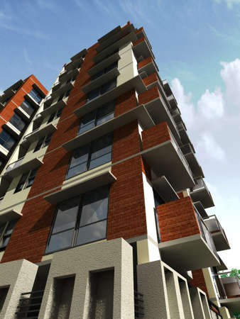 apartment block: Modern Building Design
