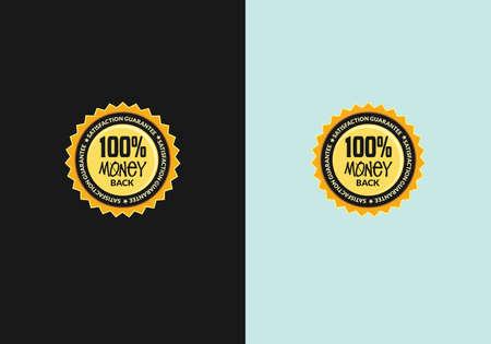 vector guarantee icon logo emblem 100% money back guarantee