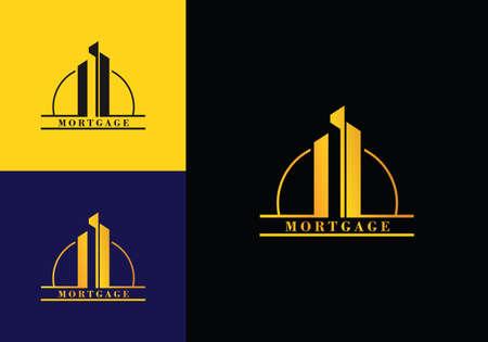 Real estate building CEO business company in Golden vector logo icon