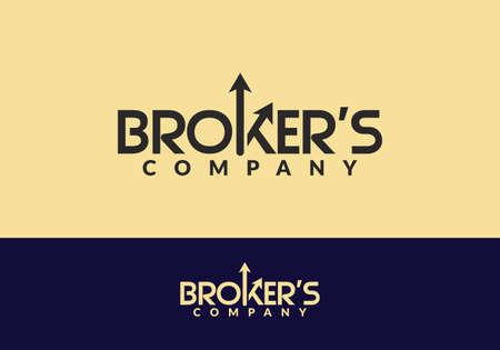 Market Charts Logo design abstract vector template. Broker's company Logotype concept Illusztráció