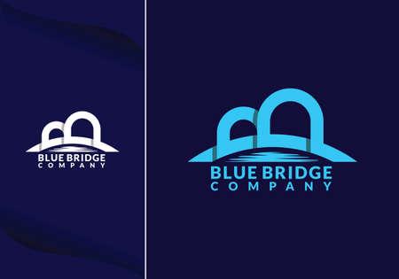 abstract bridge in letter b logo design template emblem symbol Illusztráció
