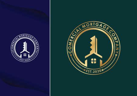 home architect mortgage logo vector icon illustration